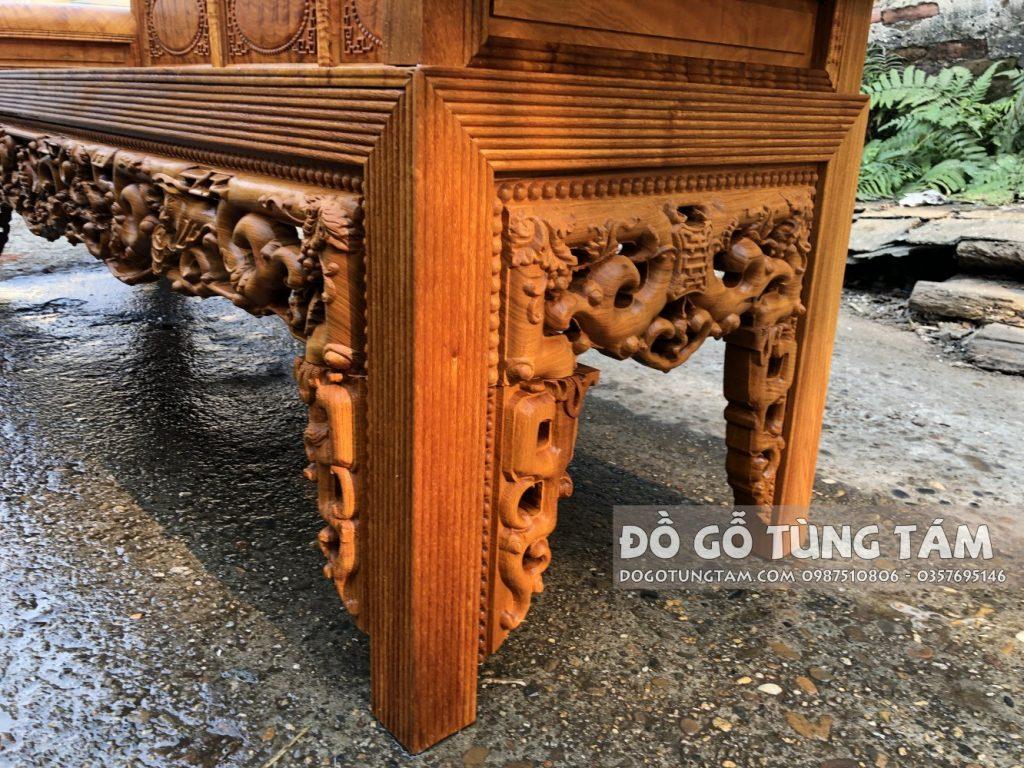 yếm ghế đục trúc dày 4 cm
